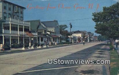 Main Avenue - Ocean Grove, New Jersey NJ Postcard