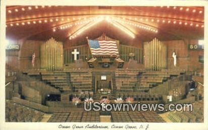 Ocean Grove Auditorium - New Jersey NJ Postcard