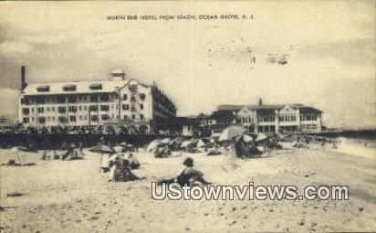 North End Hotel, Beach - Ocean Grove, New Jersey NJ Postcard