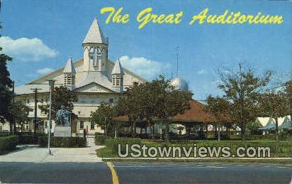 Famous Auditorium - Ocean Grove, New Jersey NJ Postcard