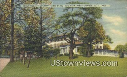 Essex County Court Club, Hutton Park - West Orange, New Jersey NJ Postcard