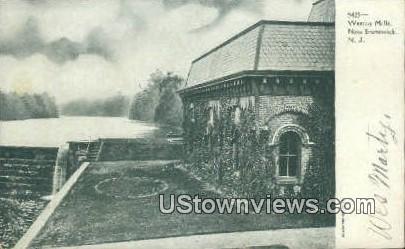 Weston Mills - New Brunswick, New Jersey NJ Postcard