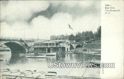 Boat Club - New Brunswick, New Jersey NJ Postcard
