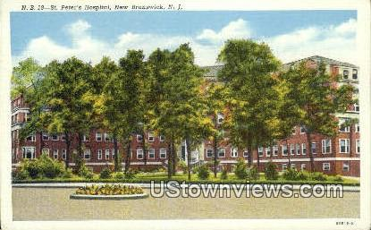 St Peter's Hospital - New Brunswick, New Jersey NJ Postcard