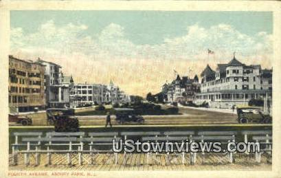 Fourth Avenue - Asbury Park, New Jersey NJ Postcard