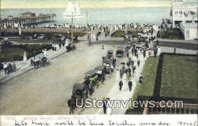 Asburty Avenue - Asbury Park, New Jersey NJ Postcard
