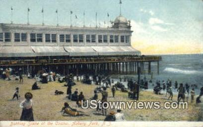Bathing, Casino - Asbury Park, New Jersey NJ Postcard
