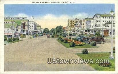 Third Avenue - Asbury Park, New Jersey NJ Postcard