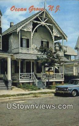 Cottage - Ocean Grove, New Jersey NJ Postcard
