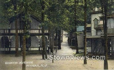 Eighth Avenue - Pitman, New Jersey NJ Postcard