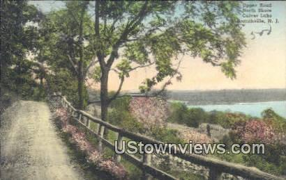 Upper Road, North Shore, Culver Lake - Branchville, New Jersey NJ Postcard
