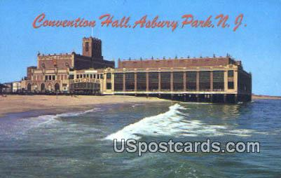 Convention Hall & Boardwalk Theatre - Asbury Park, New Jersey NJ Postcard