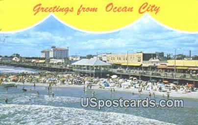 Ocean City, New Jersey Postcard      ;      Ocean City, NJ