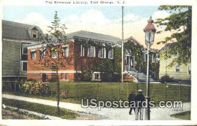 Elmwood Library - East Orange, New Jersey NJ Postcard