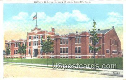 Battery B Armory - Camden, New Jersey NJ Postcard