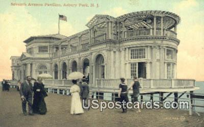 Seventh Avenue Pavilion - Asbury Park, New Jersey NJ Postcard