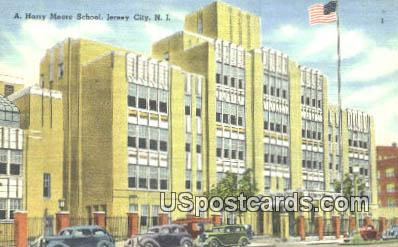 A Harry Moore School - Jersey City, New Jersey NJ Postcard