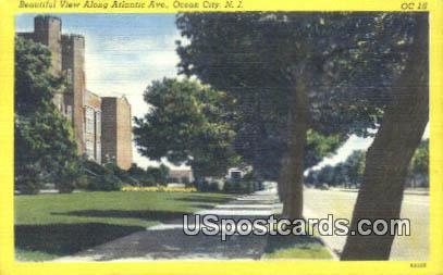 Atlantic Ave - Ocean City, New Jersey NJ Postcard