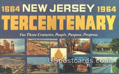 New Jersey Tercentenary - Misc Postcard