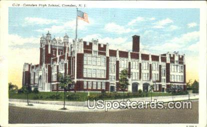 Camden High School - New Jersey NJ Postcard