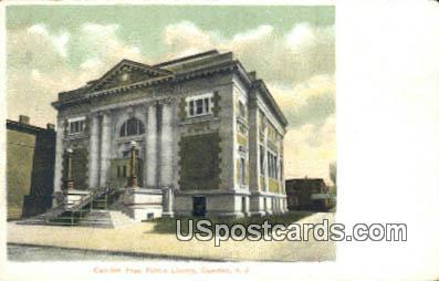 Camden Free Public Library - New Jersey NJ Postcard