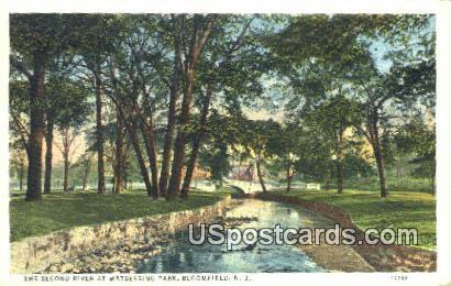 Second River, Watsessing Park - Bloomfield, New Jersey NJ Postcard