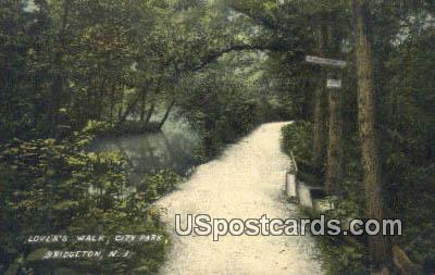 Lover's Walk, City Park - Bridgeton, New Jersey NJ Postcard