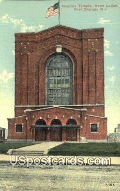 Masonic Temple, Hope Lodge - East Orange, New Jersey NJ Postcard