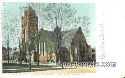 First Baptist Church - East Orange, New Jersey NJ Postcard