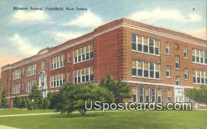 Maxson School - Plainfield, New Jersey NJ Postcard