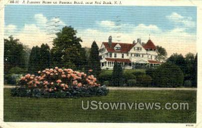 A Summer Home On Rumson Road - Red Bank, New Jersey NJ Postcard