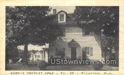 Kerns Tourist Home - Riverton, New Jersey NJ Postcard