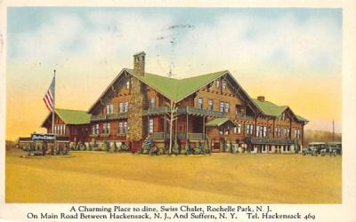 A Charming Place to Dine, Swiss Chalet Rochelle Park, New Jersey Postcard