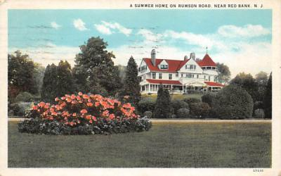 A Summer Home of Rumson Road Red Bank, New Jersey Postcard