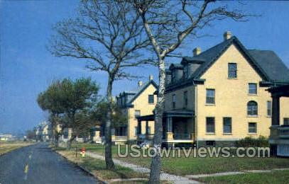Officers Row  - Highlands, New Jersey NJ Postcard