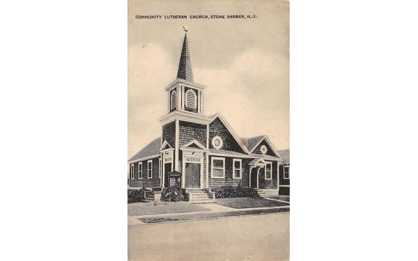 Community Lutheran Church Stone Harbor, New Jersey Postcard