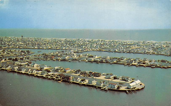 Aerial view looking toward the Ocean Stone Harbor, New Jersey Postcard