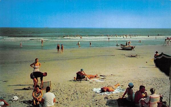 Beach Scene Stone Harbor, New Jersey Postcard