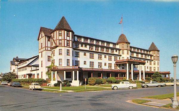Warren Hotel Spring Lake Beach, New Jersey Postcard