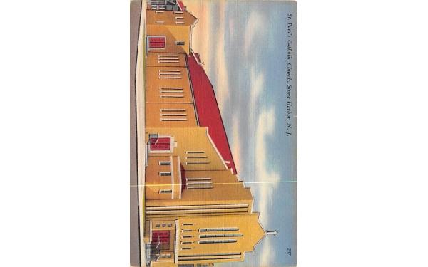 St. Paul's Catholic Church Stone Harbor, New Jersey Postcard