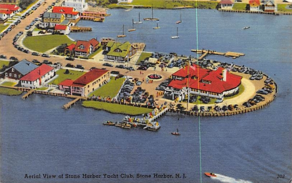 Aerial View of Stone Harbor Yacht Club New Jersey Postcard