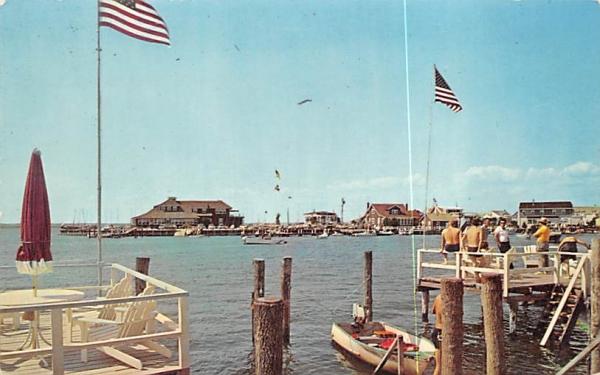 Yacht Club and Snug Harbor Stone Harbor, New Jersey Postcard