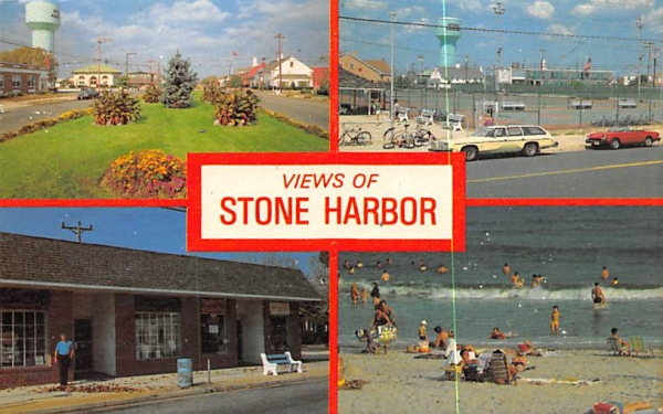 Views of Stone Harbor New Jersey Postcard