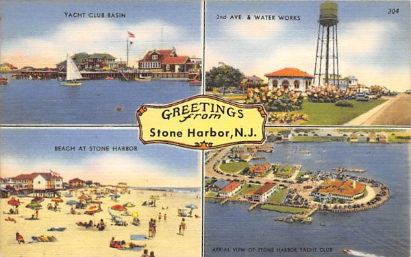 Greetings from Stone Harbor New Jersey Postcard
