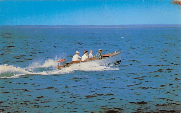 Outboard Motor Boating Stone Harbor, New Jersey Postcard