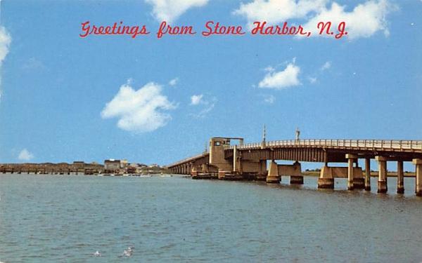 Ocean Drive Highway Bridge Stone Harbor, New Jersey Postcard