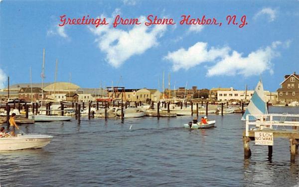 Municipal Marina Stone Harbor, New Jersey Postcard