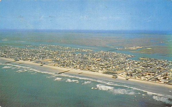 Bathing beach and inland waterway Stone Harbor, New Jersey Postcard