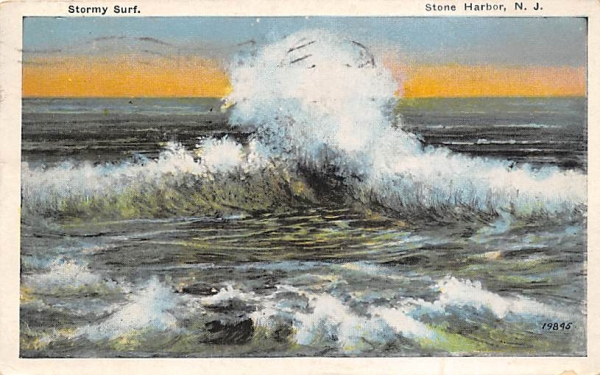 Stormy Surf Stone Harbor, New Jersey Postcard