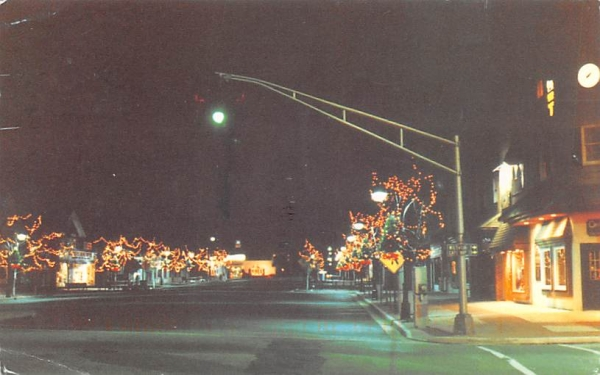 96th St., All Dressed Up For Christmas Stone Harbor, New Jersey Postcard